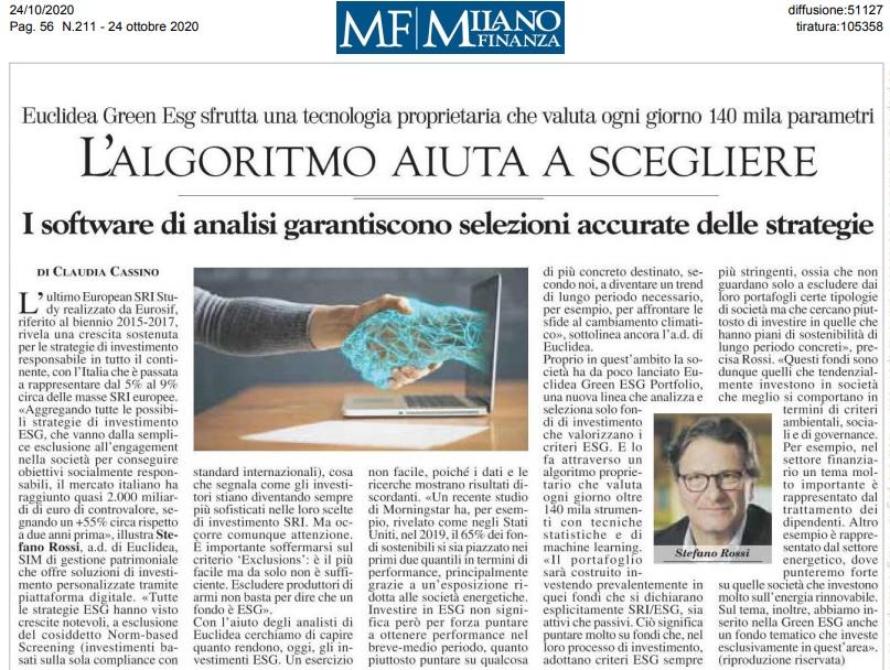 MilanoFinanza_Euclidea_Green_ESG