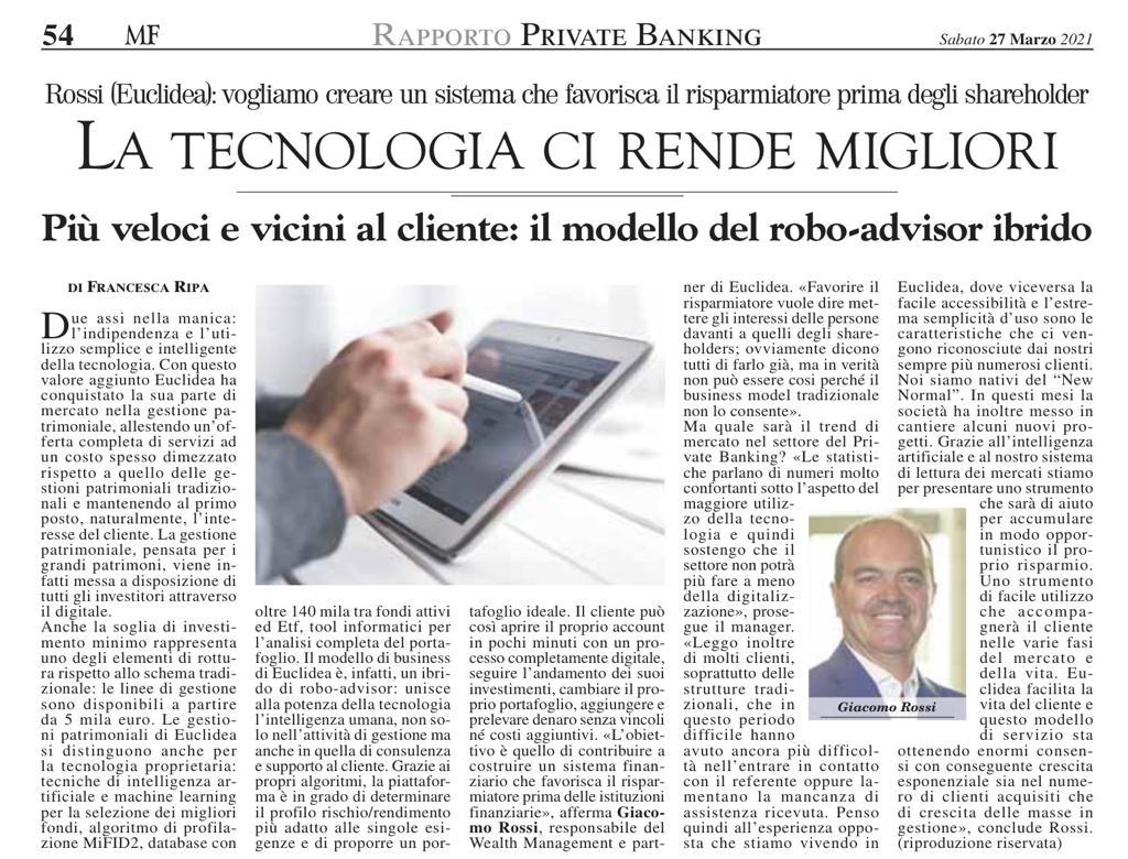 MilanoFinanza Euclidea_Giacomo_Rossi_2021-03-29
